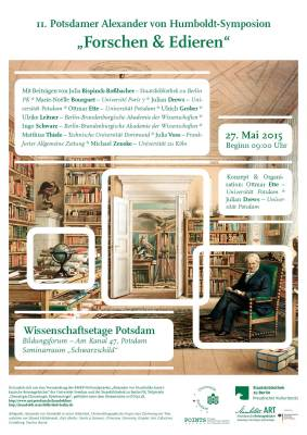 "27.05.2015, Tagung: ""2. Potsdamer Alexander von Humboldt-Symposion"", Potsdam"
