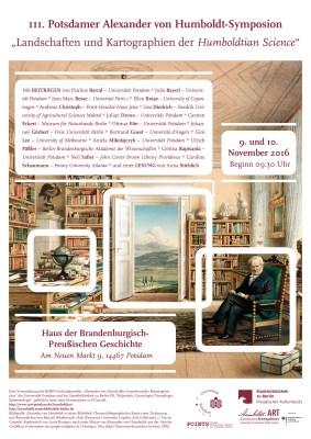 Plakat zum III. Alexander von Humboldt- Symposion
