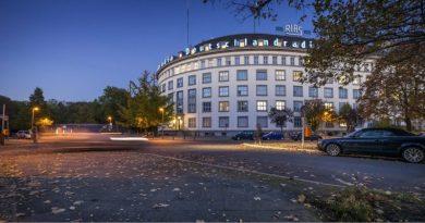 Das Funkhaus in Berlin bei Nacht Quelle: Deutschlandradio © Markus Bollen Datum: 30.07.2018