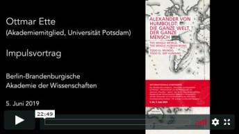 Impulsvortrag von Ottmar Ette vom 5. Juni 2019 in der Mediathek der BBAW