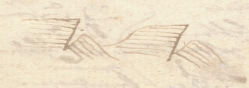 Alexander von Humboldt: Tagebuch der Spanien-Reise, 1799, Skizze.