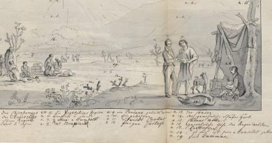 """Skizze von Friedrich Georg Weitsch mit dem Titel """"Der Chimborazo in Südamerika"""" (1809)"""