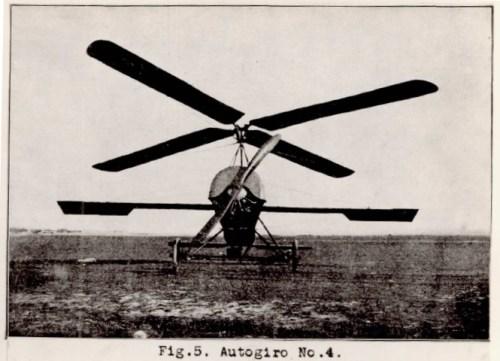 Autogiro de la Cierva C-4, primer modelo de autogiro en hacer un vuelo controlado, en Enero de 1923.