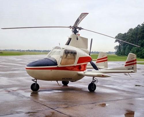 Autogiro McCulloch J-2 (1972), uno de los 3 diseños de autogiros certificados por la FAA para producción en serie en EUA.