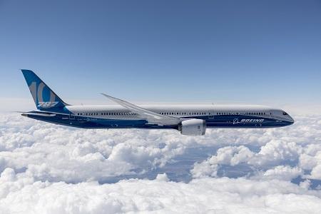 Boeing 787-10 Dreamliner autorizado por la Administración de Aviación Federal para realizar vuelos comerciales.