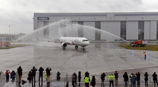 El A321LR completa con éxito su primer vuelo.