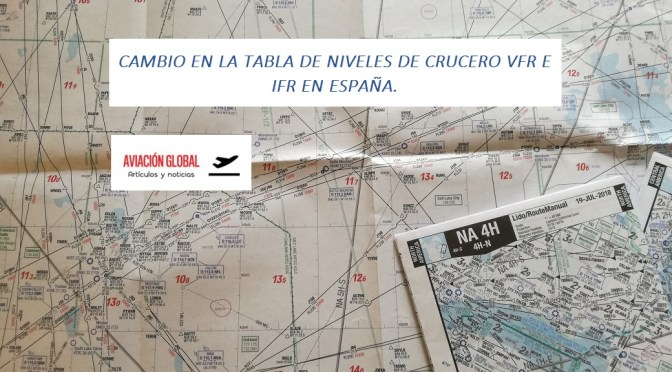 CAMBIO EN LA TABLA DE NIVELES DE CRUCERO VFR