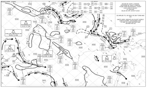 Significant Weather Chart of the Atlantic Ocean. Photo: Crewbriefing.com