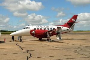 Jetstream 32 LV-ZPW de Macair Jet en el aeropuerto de Reconquista