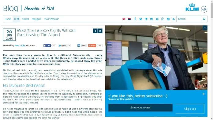 Blog KLM