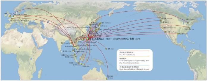 Eva Air - Mapa de Rutas