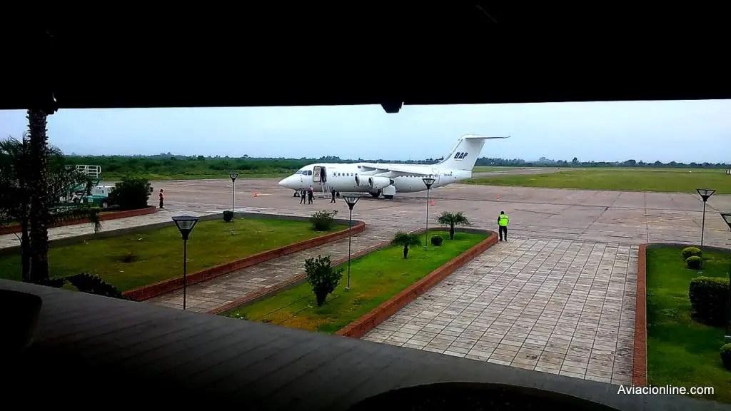 BAe RJ85 CC-AJS de DAP en el aeropuerto de Jujuy (Foto: Comunicaciones DAP)