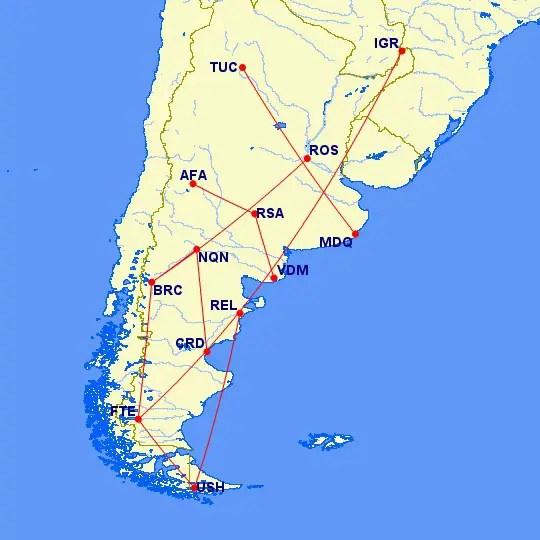 Norwegian Air Argentina - rutas tranversales