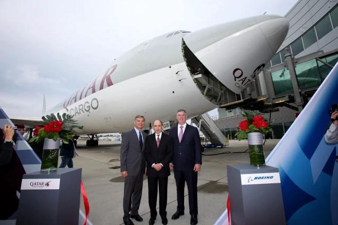 Qatar Airways - primer 747-8FC