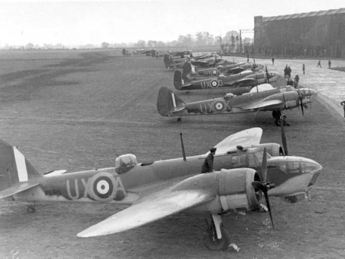 Bristol Blenheim en la Segunda Guerra Mundial