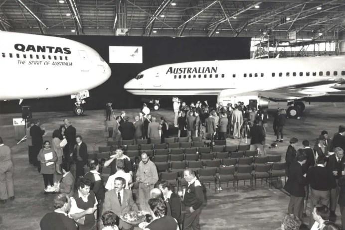 Fusión de Qantas y Australian Airlines, Septiembre 1992