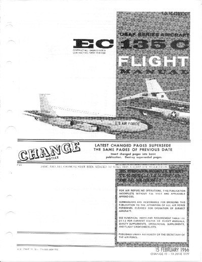 T.O. 1C-135(E)C-1 EC 135C Flight Manual