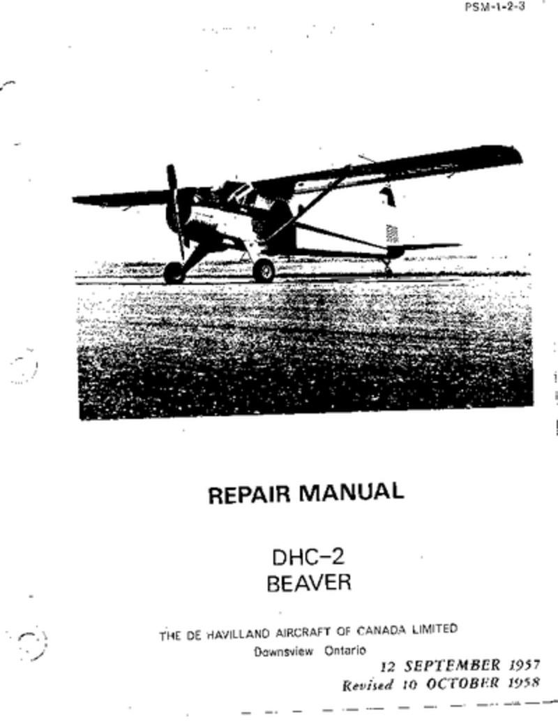 PSM-1-2-3 DHC-2 Beaver Repair Manual