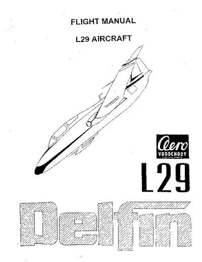 Flight Manual L29 Delphin Aircraft