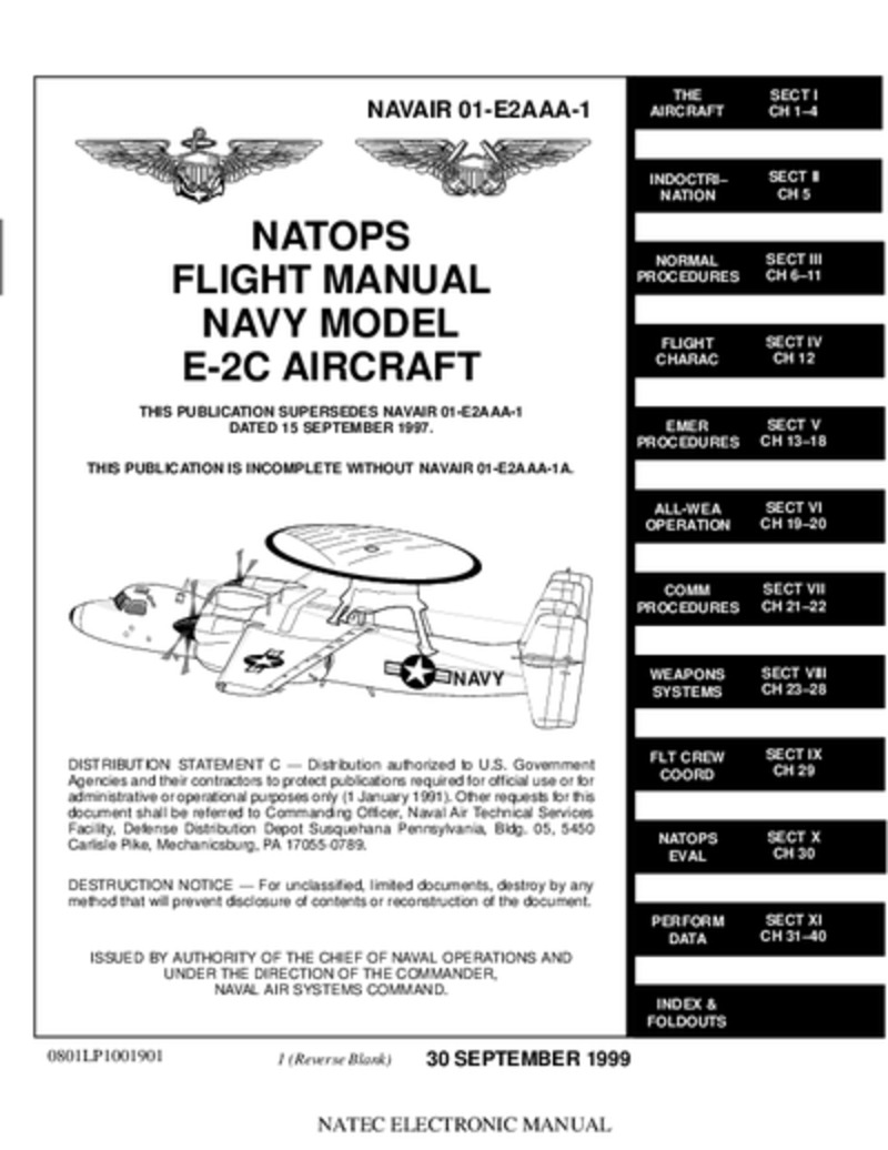 NAVAIR 01-E2AAA-1 Natops Flight Manual Model E-2C Aircraft