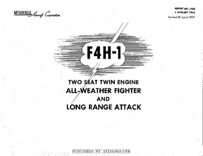 Report No 4465 F4H-1 introduction