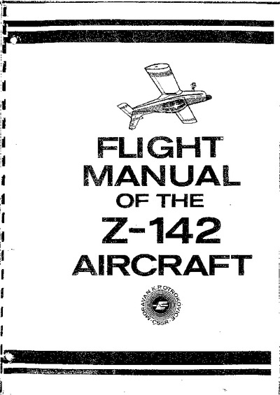 Flight Manual of the Z-142 Aircraft