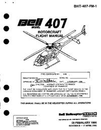 BHT-407-FM-1 Bell 407 Flight Manual