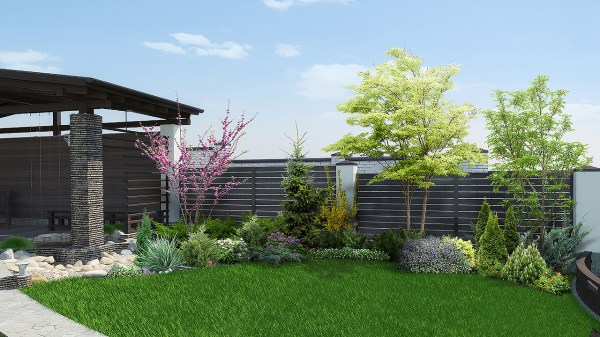landscaping ideas corner lots
