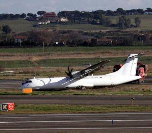 AEREO FUORI PISTA: SPARITO LOGO ALITALIA SU ATR 72
