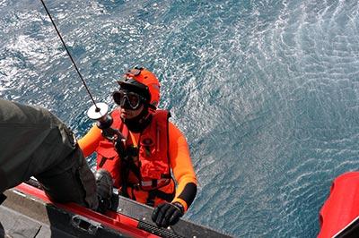 aerosoccorritori della guardia costiera