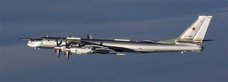 tu-95 intercepted by finnish air force military planes