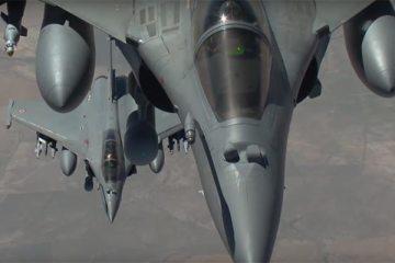 video primo bombardamento iraq rafale francesi