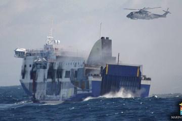 marina militare soccorre il Norman Atlantic