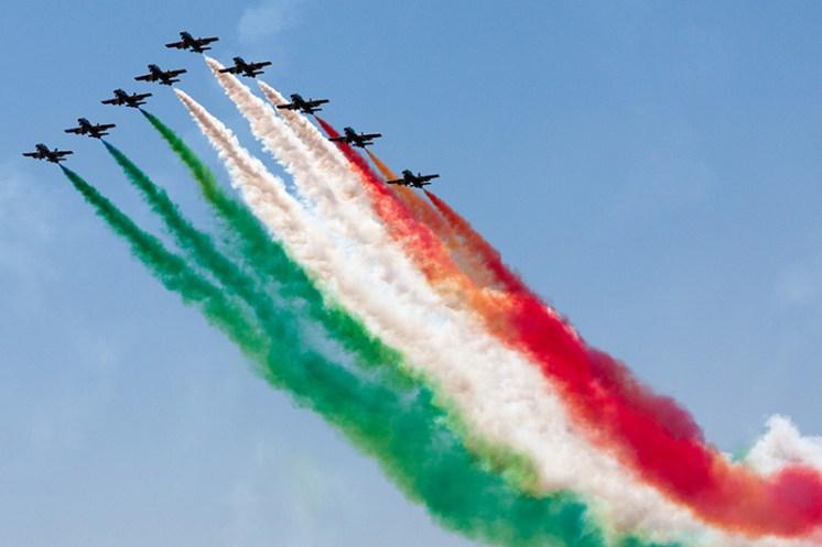 Frecce Tricolori bandiera italia