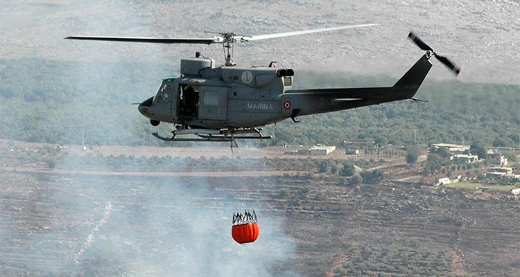 elicotteri marina militare campagna antincendio