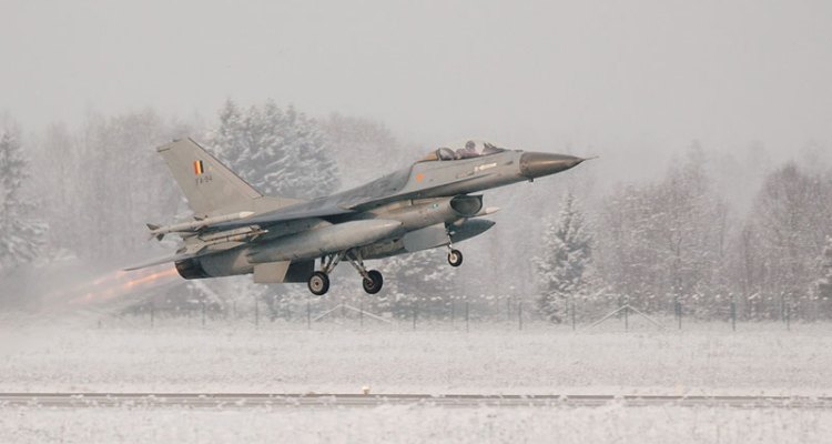 f-16 belgian air component nato baltic air policing