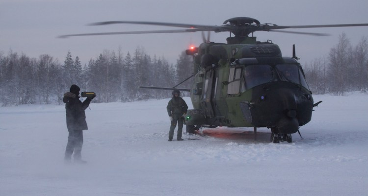gli elicotteri nh90 della finlandia