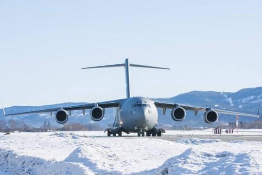 C-17 SAC alla Cold Response 2016