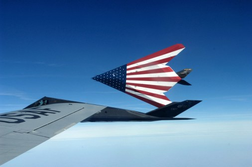 specially painted F-117 Nighthawks