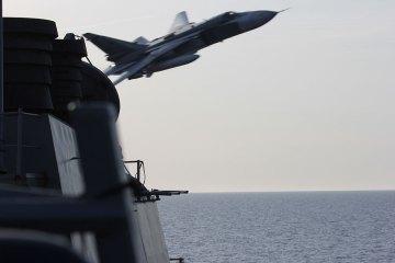 foto caccia bombardiere russo Sukhoi Su-24