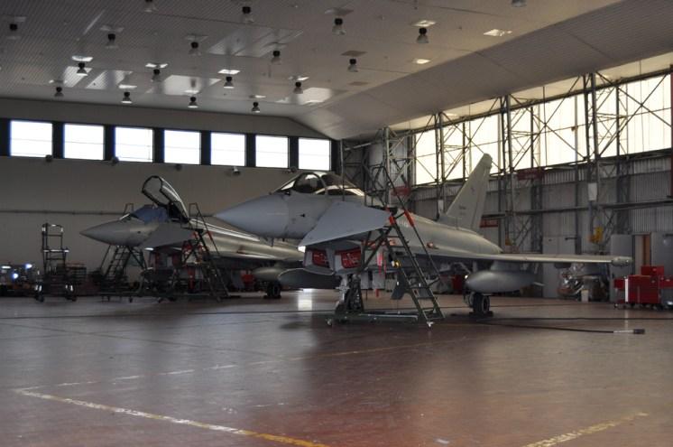 hangar manutenzione Eurofighter 37 Stormo