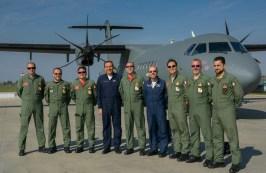 I primi Piloti abilitati P72 con gli istruttori