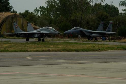 caccia americani F-15C Eagle