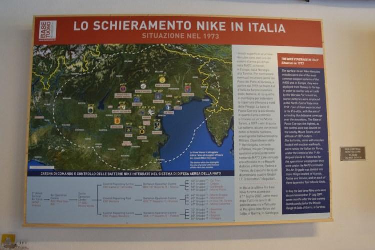 mappa dei gruppi intercettori teleguidati del nord-est guerra fredda