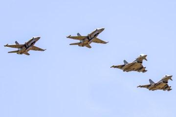 Eurofighter italiani e Hornet spagnoli
