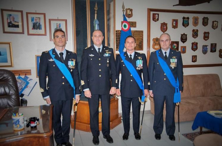 Col. Fedele con Comandanti uscenti-subentranti