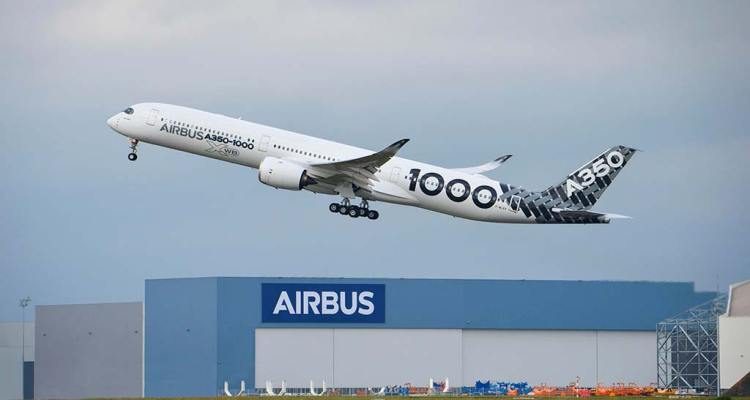 Airbus A350-1000 Early Long Flight