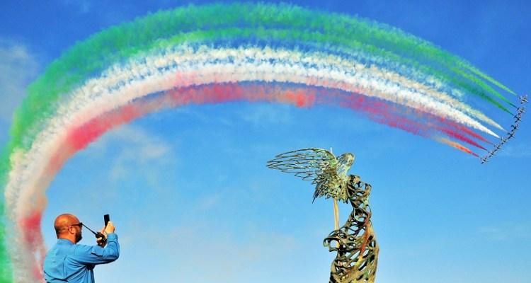 Il Tricolore delle Frecce Tricolori al Giardini Naxos Air Show