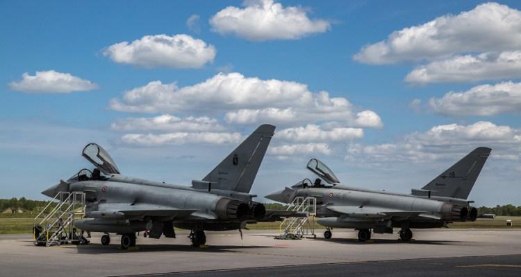 eurofighter italiani in bulgaria per la NATO Air Policing