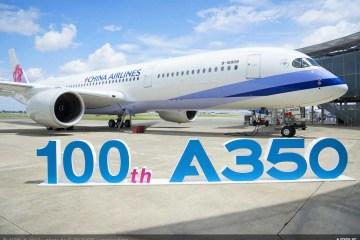 consegnato il 100° airbus A-350